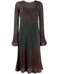 M Missoni Трикотажное Платье С Эффектом Металлик - Многоцветный