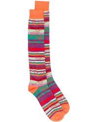 Etro Striped Jacquard Socks - Orange