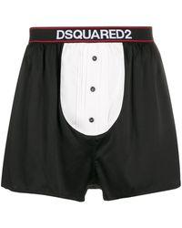 DSquared² Boxer con stampa - Nero