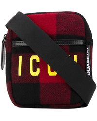 DSquared² Icon Plaid Belt Bag - Red