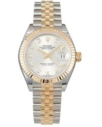 Rolex Pre-owned Oyster Perpetual Lady Datejust Horloge - Metallic