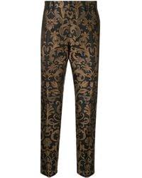 Dolce & Gabbana Pantalones de vestir en jacquard - Negro