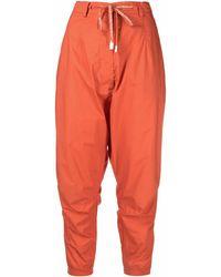 Rundholz Pantalon court à coupe sarouel - Orange