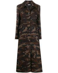 Miu Miu Camouflage button-front coat - Nero