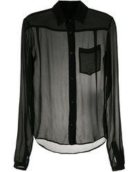 Amir Slama Прозрачная Рубашка - Черный