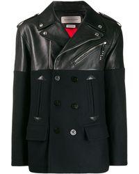 Alexander McQueen レザージャケット - ブラック
