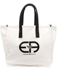 Emporio Armani ロゴ ハンドバッグ - ホワイト
