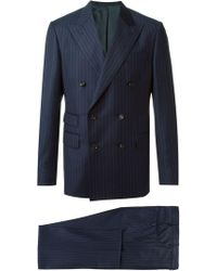 Fashion Clinic - Pinstriped Double-breasted Suit - Lyst