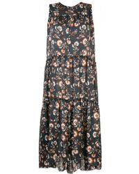 Astraet - Floral Flared Midi Dress - Lyst