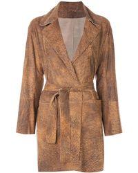 Sylvie Schimmel Belted Wrap Coat - Brown