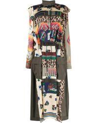 Sacai Patchwork-print Dress - Multicolour