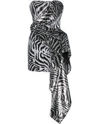 Halpern スパンコール ドレス - ブラック