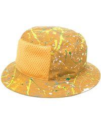 Anglozine Paint Splatter-print Bucket Hat - Yellow
