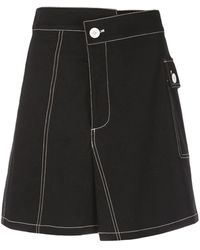 PROENZA SCHOULER WHITE LABEL コットンツイル スカート - ブラック