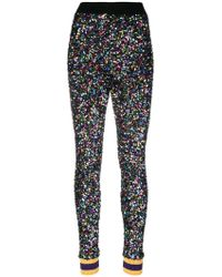 Ultrachic - Sequin Embellished Skinny Trousers - Lyst