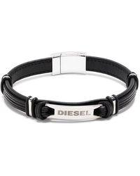 DIESEL ロゴ ブレスレット - ブラック