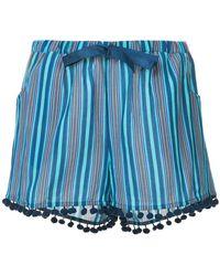 Figue - Maja Striped Shorts - Lyst