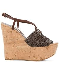 Casadei | Platform Wedge Sandals | Lyst