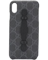 Gucci Iphone Xs Max Hoesje Met GG Patroon - Zwart