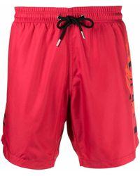 Philipp Plein Logo-print Swimming Shorts - Red
