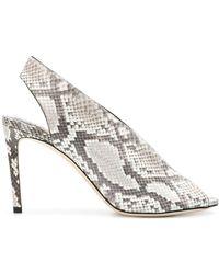 Jimmy Choo Shar 85 Sandals - Grey