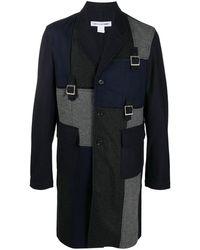 Comme des Garçons Пальто В Технике Пэчворк - Синий