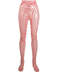 Henrik Vibskov Graphic Print Pool Tights - Red