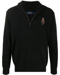 Polo Ralph Lauren Polo Bear Half-zip Jumper - Black
