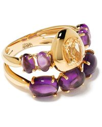 Brumani 18kt Yellow Gold Corcovado Amethyst And Citrine Ring - Metallic
