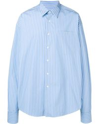 AMI - Oversized Long Sleeve Shirt With Chest Pocket - Lyst