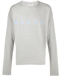 Marni ロゴ ロングtシャツ - グレー