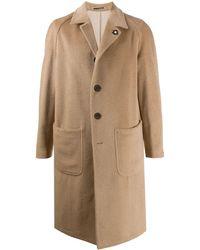 Lardini Однобортное Пальто - Естественный