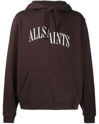 AllSaints ロゴ パーカー - レッド