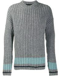 DSquared² Gestreifter Pullover - Grau