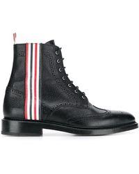 Thom Browne 4bar Rwb ウイングチップ ブーツ - ブラック