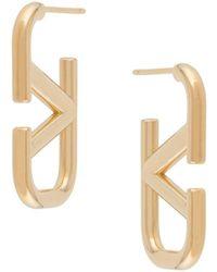 Valentino Серьги-кольца С Логотипом Vlogo - Металлик