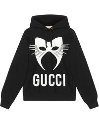 Gucci Худи Оверсайз Manifesto - Черный