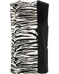 Calvin Klein Блузка С Зебровым Принтом - Черный
