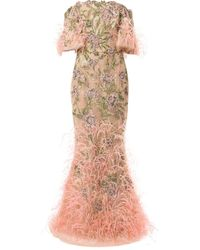 Marchesa デコラティブ チュール ドレス - マルチカラー