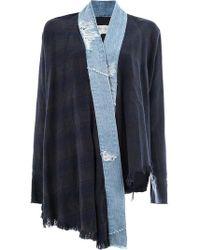 Greg Lauren - Contrast Trim Kimono Jacket - Lyst