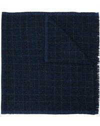Eleventy Karierter Schal - Blau