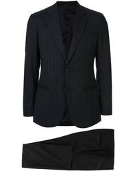 Giorgio Armani Two-piece Pinstripe Formal Suit - Blue