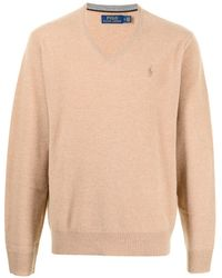 Polo Ralph Lauren Vネック セーター - ブラウン