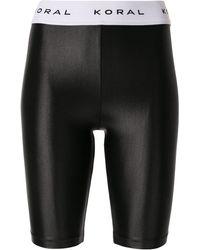 Koral Shorts Met Logo Tailleband - Zwart