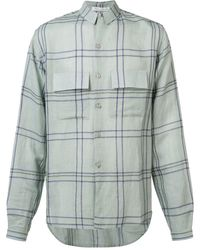 Denis Colomb Check button-up shirt - Grigio