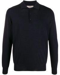 Canali ロングスリーブ ポロシャツ - ブルー