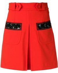 Dondup - Embellished Stripe Skirt - Lyst