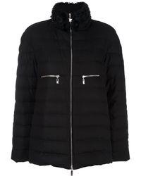 Moncler High Neck Puffer Jacket - Zwart