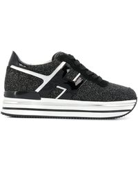 Hogan - Glitter Platform Sneakers - Lyst