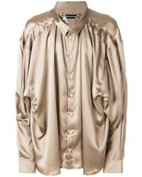 Y. Project - Draped Oversize Blouse - Lyst